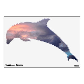 Sunset clouds Dolphin Wall Decal
