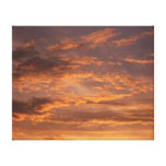 Sunset Clouds I Colorful Abstract Sky Photography Canvas Print