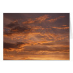 Sunset Clouds I Colorful Abstract Sky Photography Card