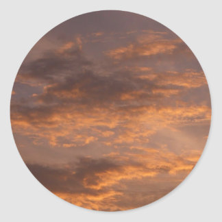 Sunset Clouds I Colorful Abstract Sky Photography Classic Round Sticker