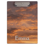 Sunset Clouds I Colorful Abstract Sky Photography Clipboard