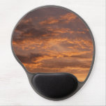 Sunset Clouds I Colorful Abstract Sky Photography Gel Mouse Pad