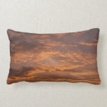 Sunset Clouds I Colorful Abstract Sky Photography Lumbar Pillow