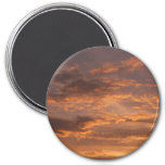 Sunset Clouds I Colorful Abstract Sky Photography Magnet