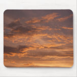 Sunset Clouds I Colorful Abstract Sky Photography Mouse Pad