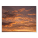 Sunset Clouds I Colorful Abstract Sky Photography Photo Print