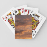 Sunset Clouds I Colorful Abstract Sky Photography Poker Cards