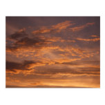 Sunset Clouds I Colorful Abstract Sky Photography Postcard