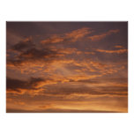 Sunset Clouds I Colorful Abstract Sky Photography Poster