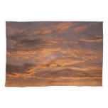 Sunset Clouds I Colorful Abstract Sky Photography Towel