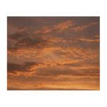 Sunset Clouds I Wood Print
