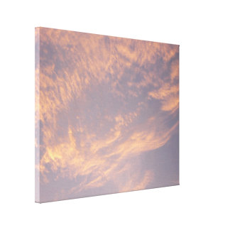 Sunset Clouds II Pastel Abstract Nature Photograph Canvas Print