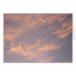 Sunset Clouds II Pastel Abstract Nature Photograph Card