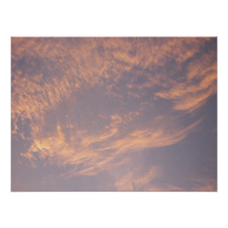 Sunset Clouds II Pastel Abstract Nature Photograph Poster