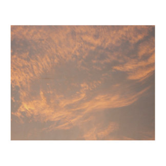 Sunset Clouds II Pastel Abstract Nature Photograph Wood Print