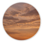 Sunset Clouds IV Pastel Abstract Nature Photograph Ceramic Knob