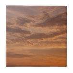 Sunset Clouds IV Pastel Abstract Nature Photograph Ceramic Tile