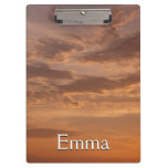 Sunset Clouds IV Pastel Abstract Nature Photograph Clipboard