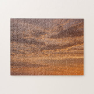 Sunset Clouds IV Pastel Abstract Nature Photograph Jigsaw Puzzle