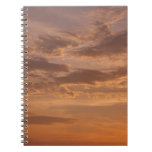 Sunset Clouds IV Pastel Abstract Nature Photograph Notebook