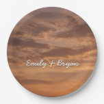 Sunset Clouds IV Pastel Abstract Nature Photograph Paper Plate