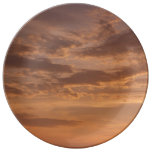 Sunset Clouds IV Pastel Abstract Nature Photograph Plate