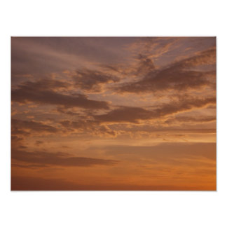 Sunset Clouds IV Pastel Abstract Nature Photograph Poster
