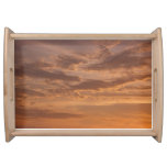 Sunset Clouds IV Pastel Abstract Nature Photograph Serving Tray