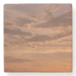 Sunset Clouds IV Pastel Abstract Nature Photograph Stone Coaster