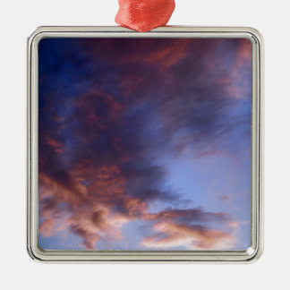 Sunset clouds metal ornament