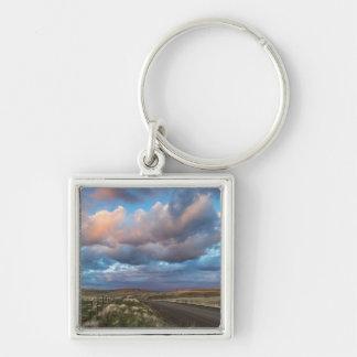 Sunset Clouds Over Gravel Zumwalt Prairie Road Key Chains