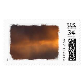 Sunset Clouds Postage Stamp
