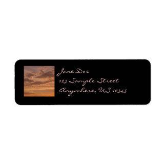Sunset Clouds Return Address Label