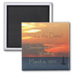 Sunset Clouds Save the Date Magnet