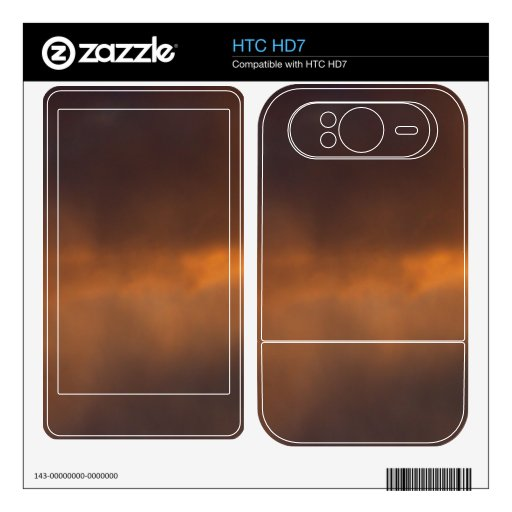Sunset Clouds Skins For HTC HD7