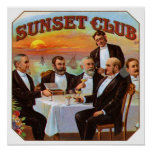 Sunset Club Poster
