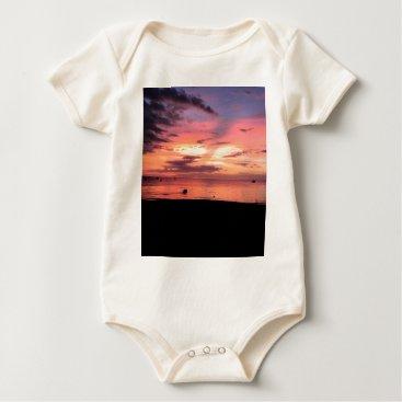 Beach Themed Sunset Coast Baby Bodysuit