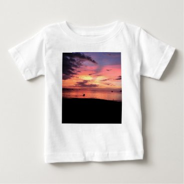 Beach Themed Sunset Coast Baby T-Shirt