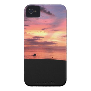 Beach Themed Sunset Coast iPhone 4 Case-Mate Case