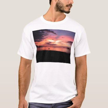 Beach Themed Sunset Coast T-Shirt