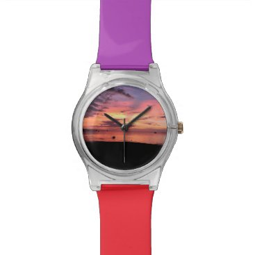 Beach Themed Sunset Coast Wrist Watch