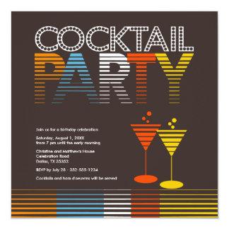 "Sunset Cocktail Party Invitation {TBA} 5.25"" Square Invitation Card"