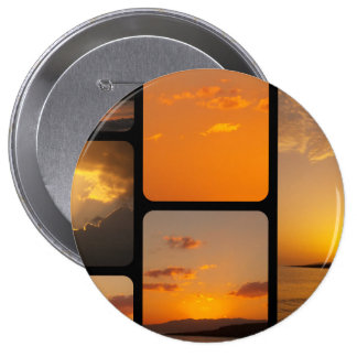 Sunset Collage Button