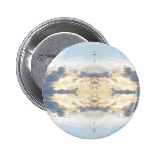Sunset Collage Tie Dye Pinback Button