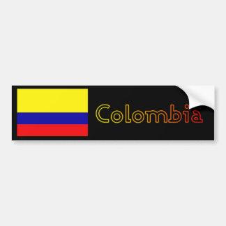Sunset Colombia flag bumper Bumper Sticker