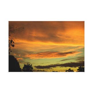 Sunset Color Art Canvas