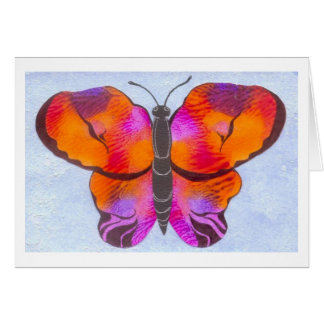 Sunset Colored Butterfly Painting Card