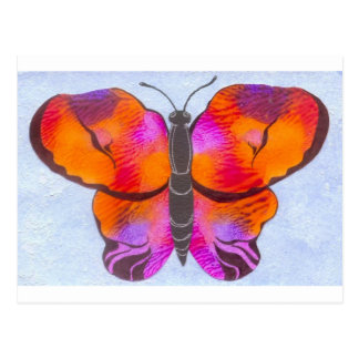 Sunset Colored Butterfly Painting Postcard