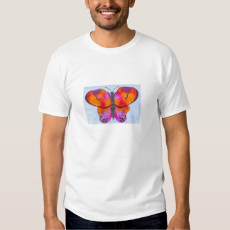 Sunset Colored Butterfly Painting Tee Shirt