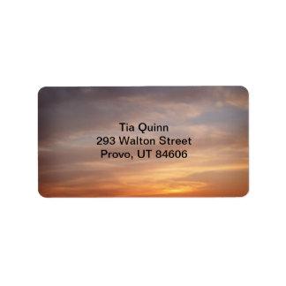 Sunset Colors Address Label